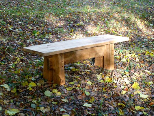 Green oak arch bench